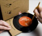 Album Sleeve Transforms Into a Cardboard Record Player!
