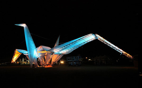 Giant Crane Origami Ascension Coachella Music Festival California