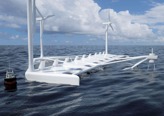 floating power plant, poseidon, poseidon 37, wind power, wave power, offshore wind, hydro power, renewable energy, denmark, sri international, merino, california