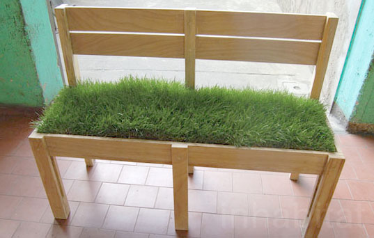 Milan Design Week, Grass Sofa, Grass Couch, Grass Bench, Grass Chair, Living bench, living chair, living sofa, Mow Chair, Milan Furniture Fair, Fadi Sarieddine, Lebanese architects, Local furniture, furniture in Dubai