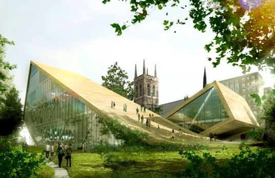 A Sloping Green Roof Proposal For Quebec S Beaux Arts