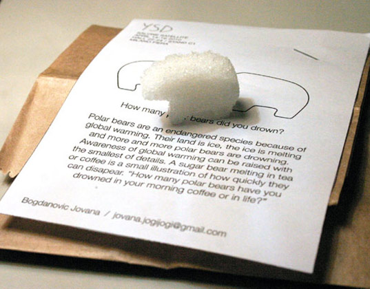 Milan, Young Serbian Designers, Jovana Bogdanović, Sugar bear, polar bear sugar cube, endangered species, Salone del Mobile, Milan Salone 2010, Milan Design Week