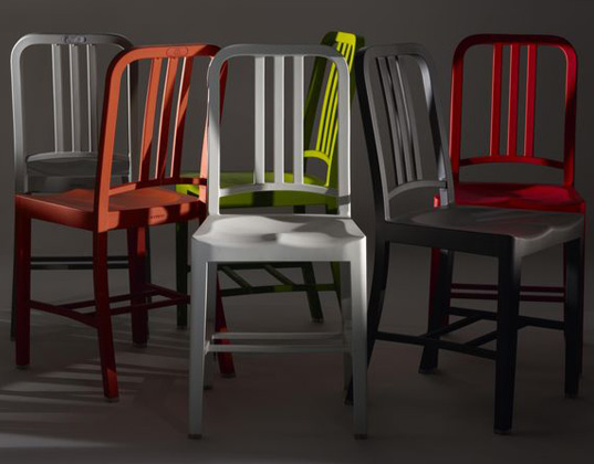 emeco unveils navy chair made of 111 up cycled coke bottles