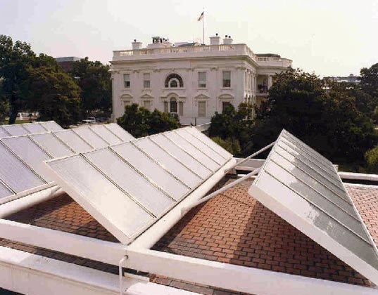 white house, president, obama, administration, government, solar panels, soar array, solar power, renewable energy
