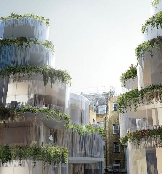 Cleaved Apartment Complex In London Creates Its Own Garden