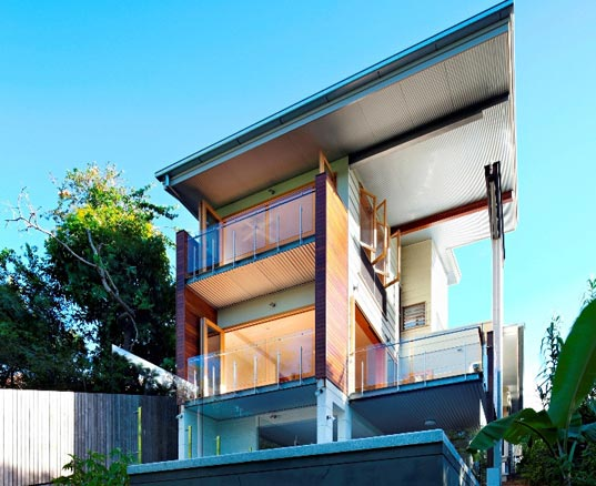 Ecohouse, Eco home, green home, reclaimed materials, greywater, blackwater, healthy home, solar power, solar heating, brisbane, australia, eco design, riddel Architecture, sustainable design, green design
