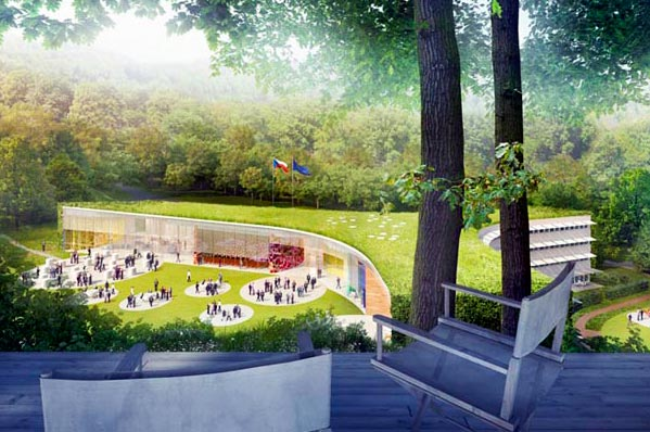 chalupa architekti, czech republic, czech embassy, washington dc, embassy, natural light, daylighting, green roof, environment, eco design, green design, sustainable building