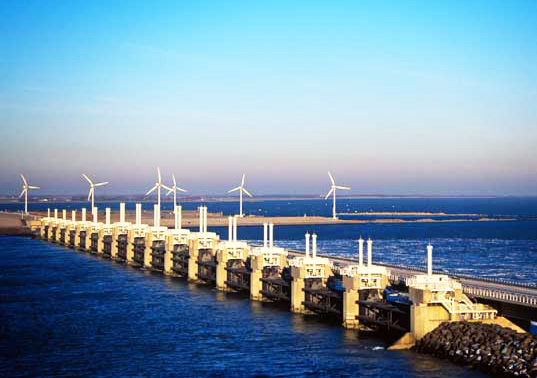 netherlands, dikes, dutch, estuary, natural habitat, tidal power,  renewable energy, energy, power, electricity