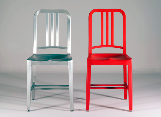 Beautiful Although The 111 Navy Chair Is An Exact Replica Of The Aluminum 1944 Navy  Chair, It Took Designers Two Full Years To Develop The New Material  Composition ...