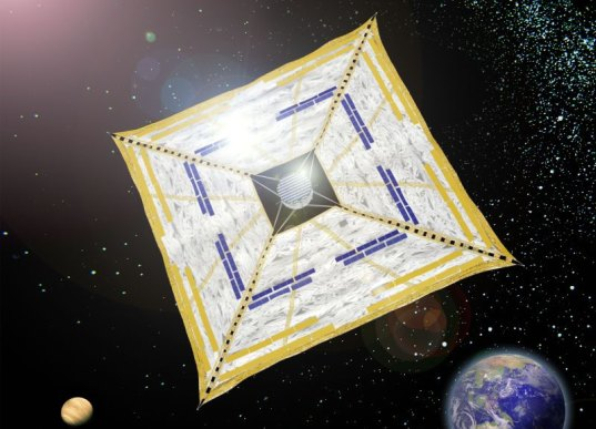 JAXA, Japan Aerospace Exploration Agency, Ikaros, Interplanetary Kite-Craft Accelerated by Radiation of the Sun, solar sails, solar sail spacecraft, space exploration, Venus satellite, solar power, solar-powered spacecraft, solar backpack, solar car