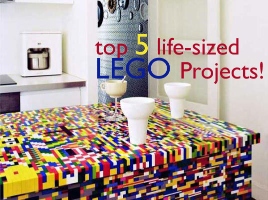 LEGO, LEGOS, life-sized lego structures, lego sculptures, lego toys, lego creations, lego art, lego house, james may's lego house, lego animals, lego table, lego kitchen, green design, green design for kids, green design for families, lego building, creating with legos, ecomat lego building b
