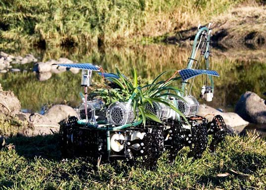 sustainable design, green design, water issues, green robot, cyborg, nomad plant, gilberto esparza, environmental art, microbial fuel cells