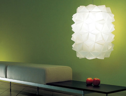 Milan Furniture Fair, green home products, green lighting, LZF Lamps, origami lamps