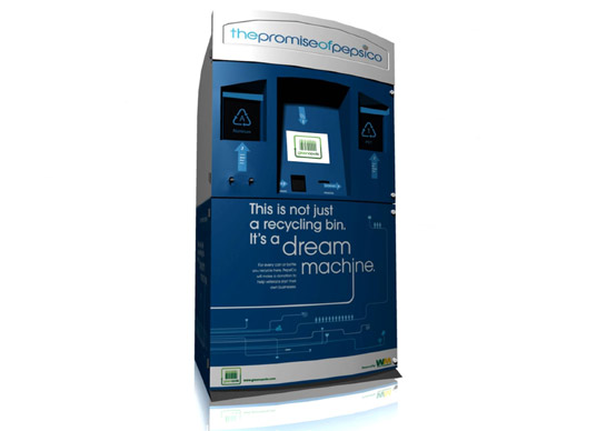 Dream Machine, Keep America Beautiful, Waste Management, Greenopolis, recycling, recycling kiosk, rewards for recycling, Pepsi