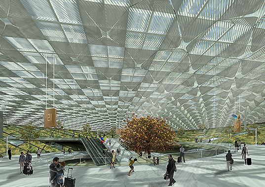 hong kong, china, pearl river delta, transportation, transportation hub, indoor gardens, air quality, energy efficiency, daylighting, natural daylight, natural ventilation, green design, eco design, sustainable building