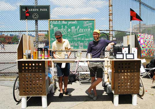 Bike Powered Mobile Coffee Bar Hits The Streets Of New York