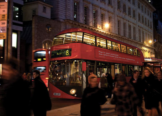 London, hybrid bus, routemaster, double-decker bus, london bus, hybrid technology, thomas heatherwick, heatherwick studio, the wright group, transport for london, green transportation, public transportation, alternative transportation, green design, eco design, sustainable transportation