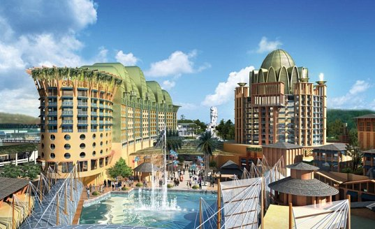 michael graves, michael graves and associates, singapore, sentosa, resorts world sentosa, energy efficient, sustainable design, green roofs, solar power, photovoltaics, mixed-use development, mega resort, green design, eco design, sustainable building