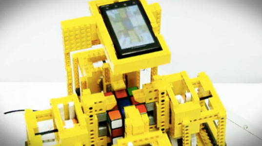 rubiks cube, lego, robot, green technology, green innovation, android phone, led, screen