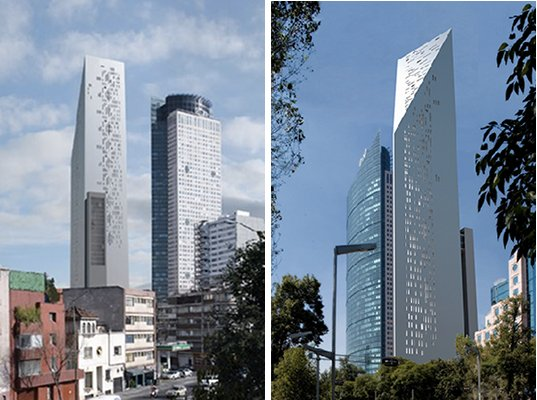 mexico city, torre reforma, LEED certification, LEED, LEED platinum, skyscraper, eco skyscraper, LBR&A Arquitectos, mexico, solar energy, photovoltaics, renewable energy, mixed-use development, eco tower, green building, green design, eco design, sustainable building