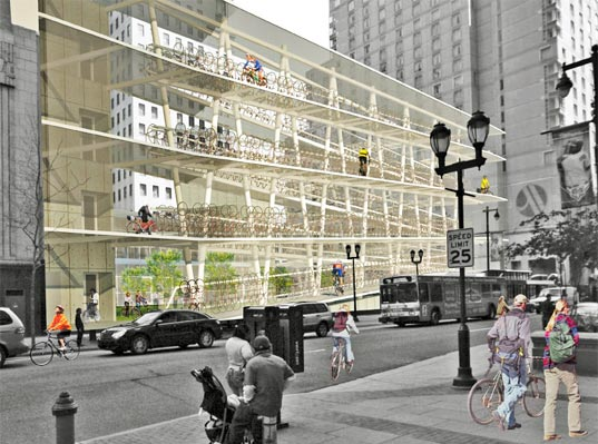 Philadelphia parking lot transformed into urban cycling oasis philadelphia parking lot transformed into urban cycling oasis inhabitat green design innovation architecture green building solutioingenieria Image collections