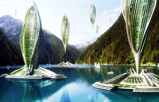 Hydrogenase, Vincent Callebaut, sustainable design, green design, sustainable transportation, hydrogen airship, algae power, green zeppelin, air travel