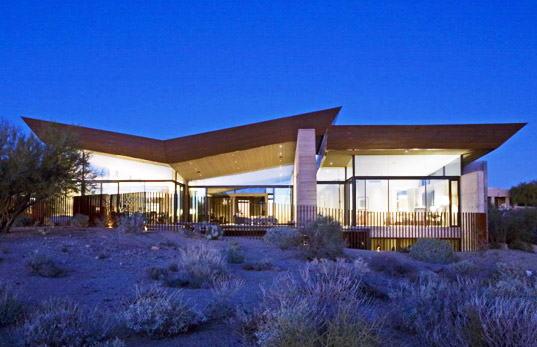 Exceptional earth walled home is a desert oasis for Scottsdale architecture firms