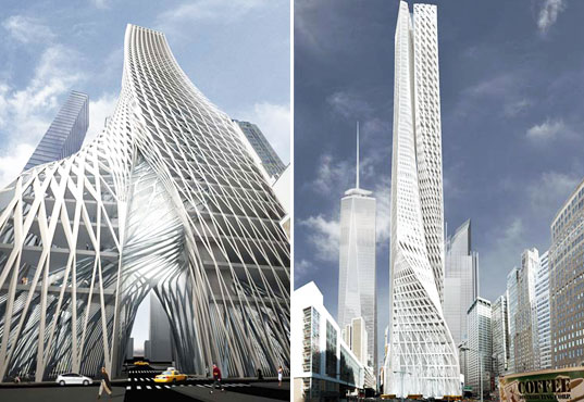 Spiraling New York Skyscraper Features Bio Filtration Quot Lungs Quot