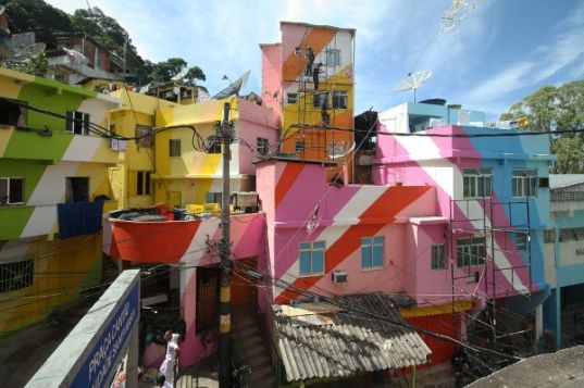 sustainable design, green design, favela painting, haas and hahn, urban space, eco art, community art, green architecture, humanitarian design