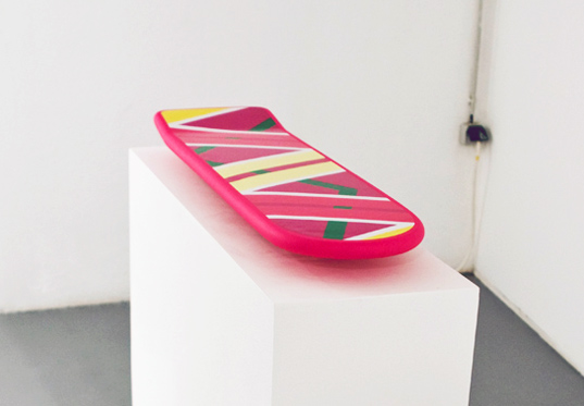 hoverboard, marty mcfly, back to the future, maglev, sustainable design, green design, green transportation, art