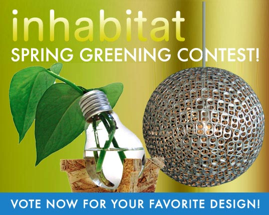 Inhabitat Spring Greening Finalists Announced, recycled design, eco design, eco craft, green design, eco design, sustainable design, spring greening contest, recycled design, reclaimed design, reclaiming design, recycled art, DIY projects