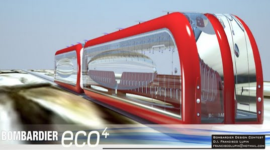 high speed train, maglev train, solar panels, solar power, solar powered train, bombardier, Eco4 trains, energy efficient train, energy saving train, train concept, green transportation, alternative transportation, green design, eco design