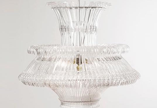 Stunning Chandelier Made from Recycled Plastic Hangers | Inhabitat ...