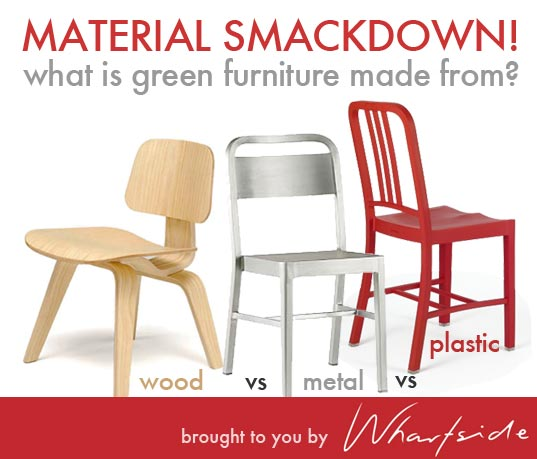 green furniture, eco furniture, eco materials, green materials, sustainable materials, eco metal, eco wood, eco plastic, green plastic, green metal, recycled