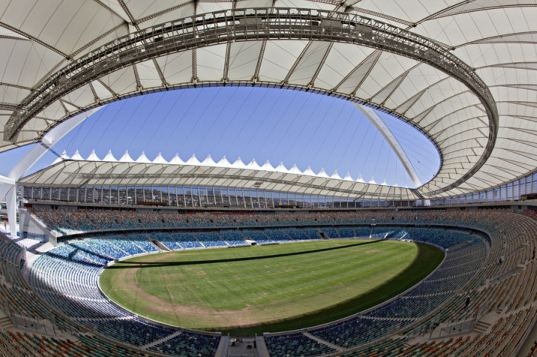 gmp Architekten, FIFA 2010 world cup, world cup, soccer, soccer stadium, stadium, eco stadium, south aftrica, durban, natural ventilation, daylighting, PTFE, rainwater collection, recycled materials, green design, eco design, sustainable building