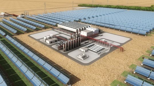 world's largest solar project, concentrating solar power, csp, UAE, united arab emirates, shams 1, total, masdar, abengoa solar, solar power, solar energy, renewable energy, green design, eco design,