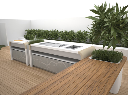 Electrolux 39 s outdoor kitchen integrates with your garden for Home and garden kitchen design