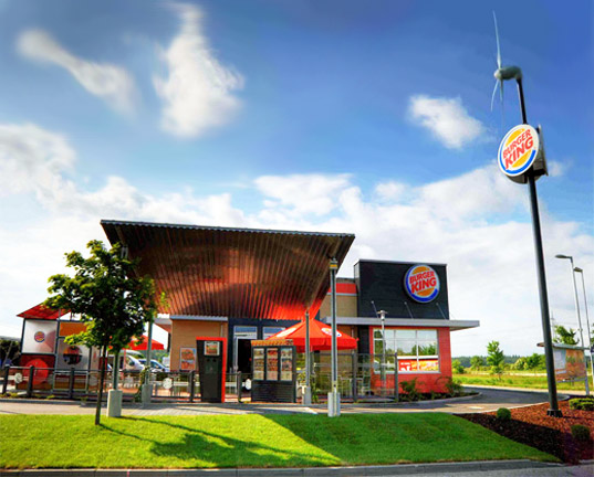 burger king, solar energy, wind energy, solar power, wind power, germany, green design, eco design, sustainable design