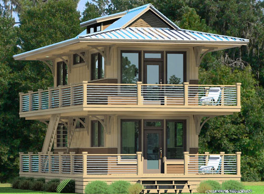 Nationwide homes unveils green eco cottages inhabitat for Piani eco cottage