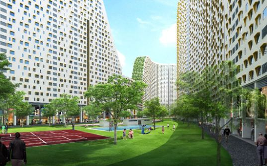 Dwp architects, Sustainable architecture, green architecture, green roof, natural ventilation, sky garden, vertical gardens, green apartments, public spaces, Vietnam, ho chi minh city