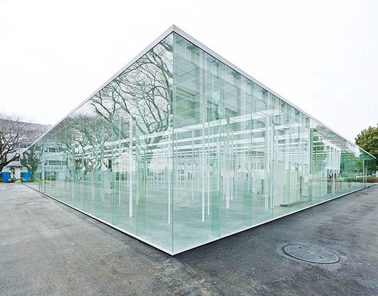 glass facade, natural light, daylighting, junya ishigami and associates, japan, kanagawa institute of technology
