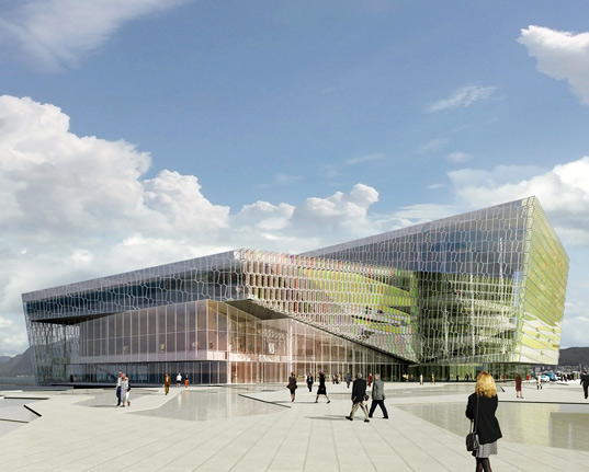 Iceland S Luminous New Harpa Concert Hall Nears Completion