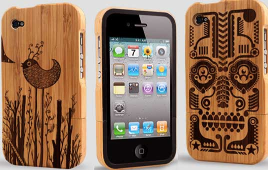 These Grove iPhone cases are made from bamboo.