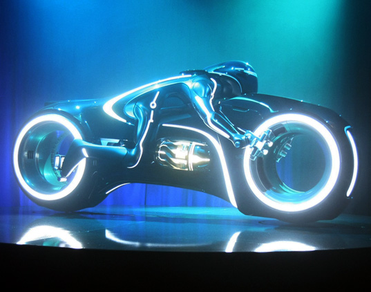 EVs, motorcycles, eBay, Tron, Tron Legacy, Disney, Parker Brothers Choppers, transportation, movie memorabilia