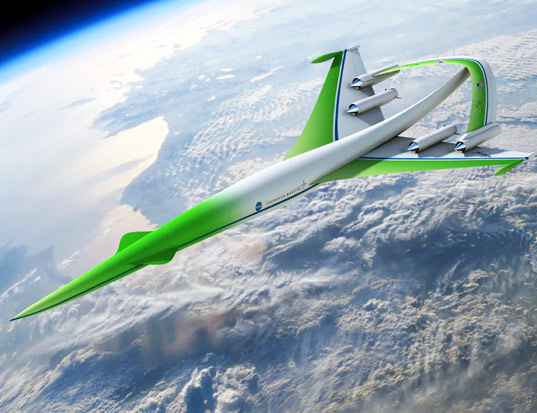 supersonic green machine, supersonic cruise concept, nasa green aircract, fuel efficient aircraft, fuel efficient airplanes