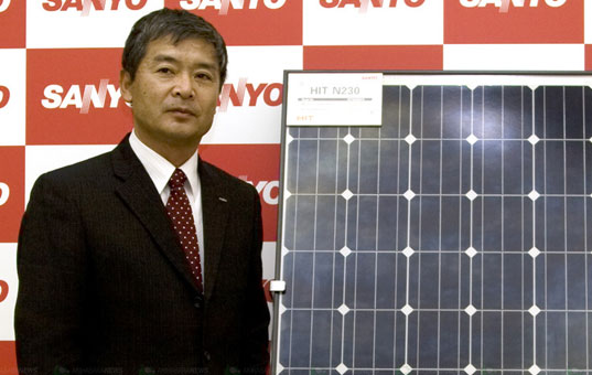 sanyo, solar power, solar module, solar panel, world's most  efficient solar module, energy efficiency, alternative energy, green  design, eco design, sustainable design