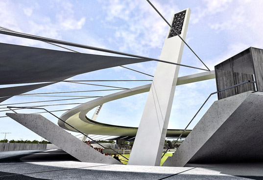 Spain stadium, Green Soccer Stadiums, Landscape Architecture, low visual impact building, low visual impact stadium, SOCCER (FOOTBALL) HOUSES, sustainable design, green design, green building