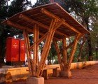 Indian Students Make Bamboo Bus Stop