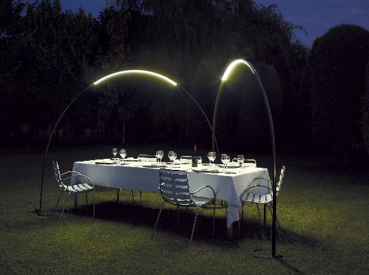 ambient outdoor led lighting inspired by halley 39 s comet