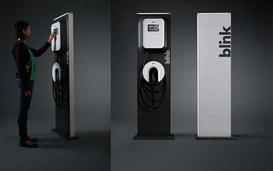 Blink Charging Stations >> The Blink Ev Charger An Intuitive Electric Vehicle Charging